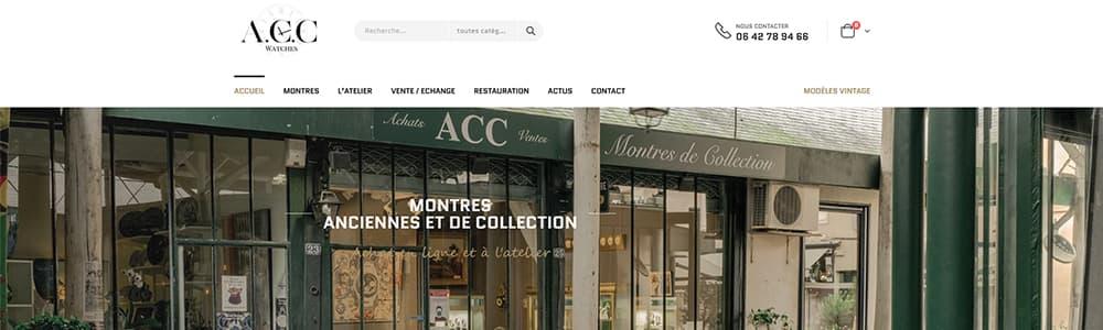 Création du site ACC Montres Versailles