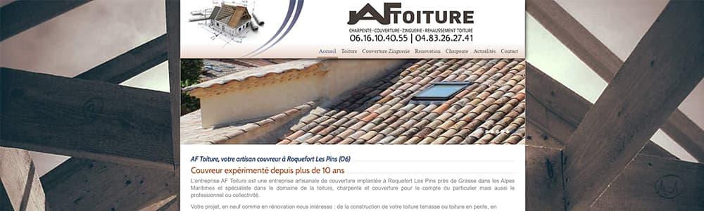 Création du site web AF Toiture