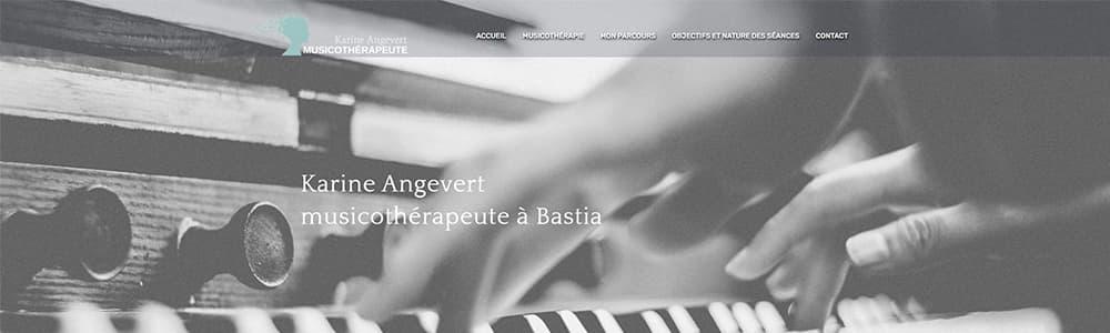 Création du site Angevert Musicothérapeute