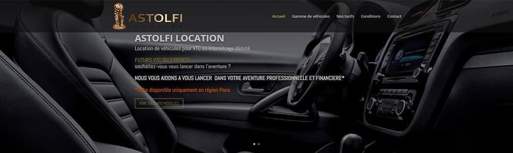 Location du site Astolfi VTC
