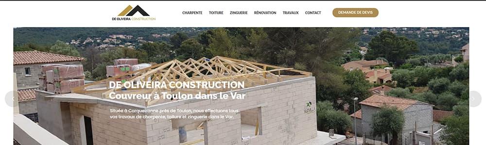Création du site De Oliveira Construction