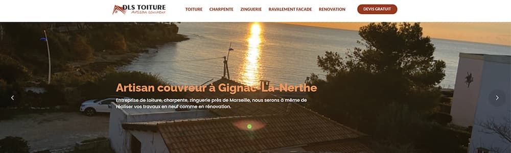 Création du site DLS Toiture