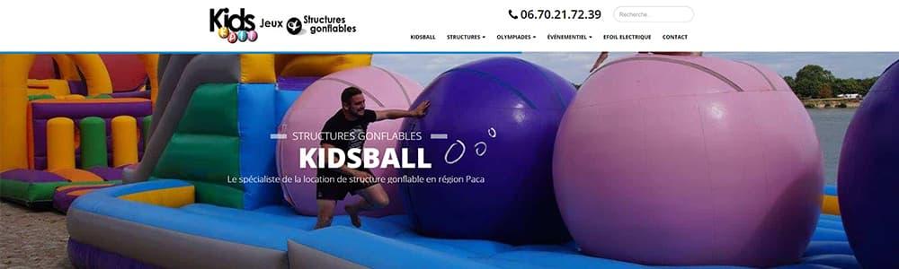 Création du site Kidsball animation