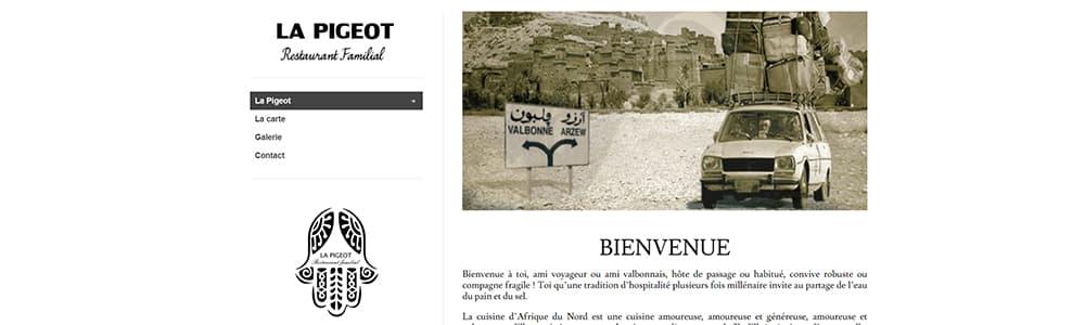 Création du site La Pigeot