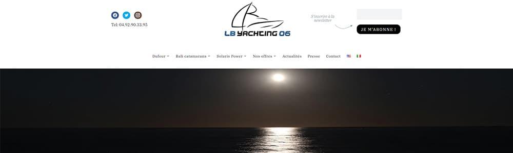 Création du site LB Yachting