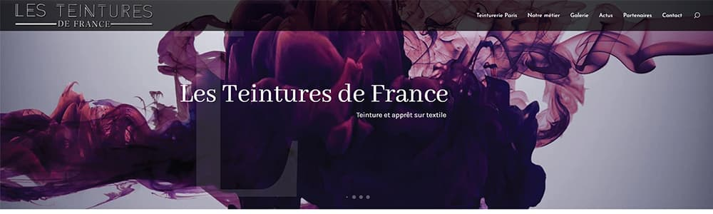Création du site Les Teintures de France