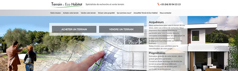 Création du site Terrain Eco Habitat